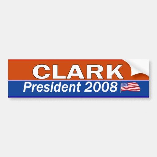 CLARK President Bumper Stickers