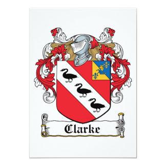 Clarke Family Crest Invite