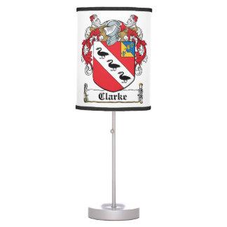 Clarke Family Crest Lamps