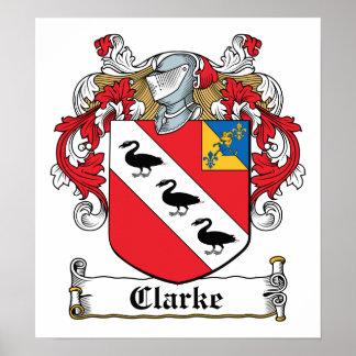 Clarke Family Crest Poster