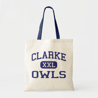 Clarke Owls Middle School Athens Georgia Canvas Bags