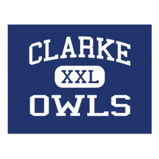 Clarke Owls Middle School Athens Georgia Postcards