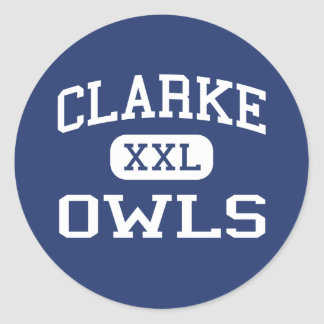 Clarke Owls Middle School Athens Georgia Classic Round Sticker