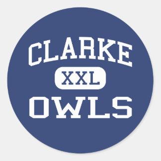 Clarke Owls Middle School Athens Georgia Round Sticker