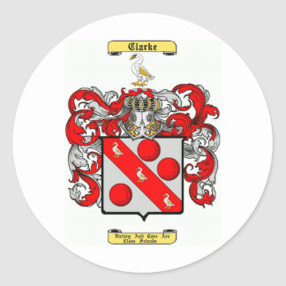 clarke classic round sticker