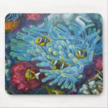 clarks clownfish with anemone mouse pads