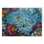 clarks clownfish with anemone stationery note card