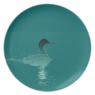 Clarks Grebe Bird Wildlife Animals Art Plate