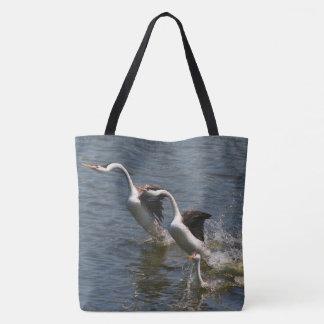 Clarks Grebe Birds & Baby Wildlife Animal Tote Bag