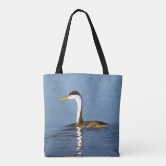Clark's Grebe Painting - Original Bird Art Tote Bag