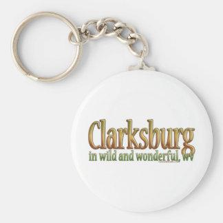 Clarksburg, West Virginia Keychain
