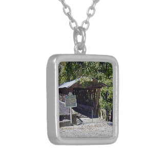 Clarkson–Legg Covered Bridge Silver Plated Necklace