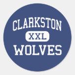 Clarkston - Wolves - High - Clarkston Michigan Round Sticker
