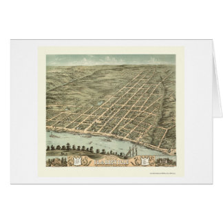 Clarksville, mapa panorámico del TN - 1870 Felicitacion