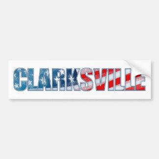 Clarksville Pegatina Para Auto