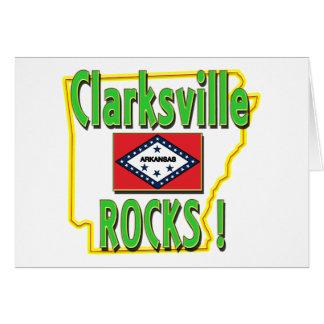 Clarksville Rocks ! (green) Card