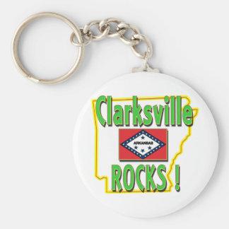 Clarksville Rocks ! (green) Keychain