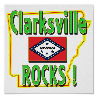 Clarksville Rocks ! (green) Poster