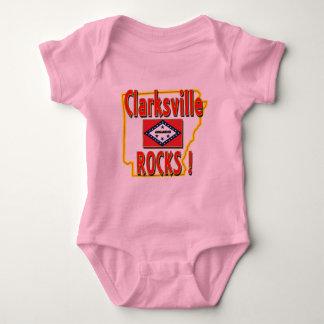 Clarksville Rocks ! (red) Baby Bodysuit