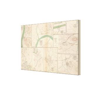 Clarksville, Tenn, Dalton, Ga Canvas Print