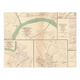 Clarksville, Tenn, Dalton, Ga Postcard