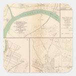 Clarksville, Tenn, Dalton, Ga Square Sticker