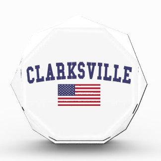 Clarksville US Flag Acrylic Award