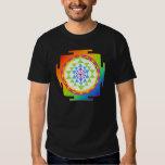 Claro/arco iris del sri yantra/chakra de playeras