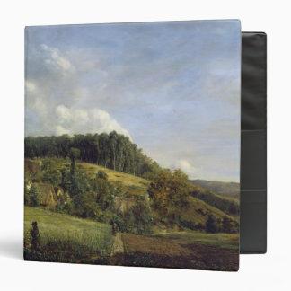 """Claro cerca de un pueblo, 1833 del bosque carpeta 1 1/2"""""""