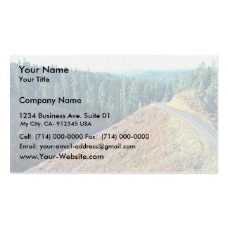 Claro-corte manchado del hábitat del búho tarjeta de visita