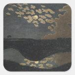 Claro de luna, 1894 pegatina cuadrada