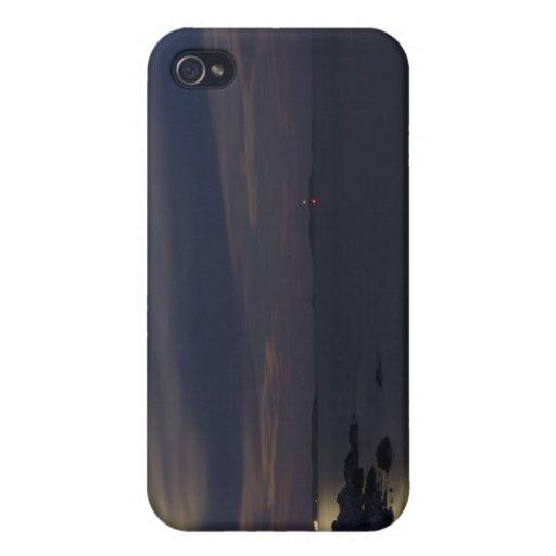 Claro de luna creciente cristalino de la playa iPhone 4 funda