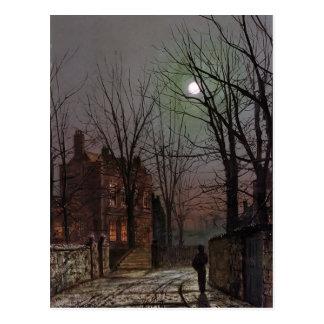 Claro de luna de Juan Atkinson Grimshaw- Postales