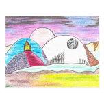 Claro de luna del creyón tarjetas postales