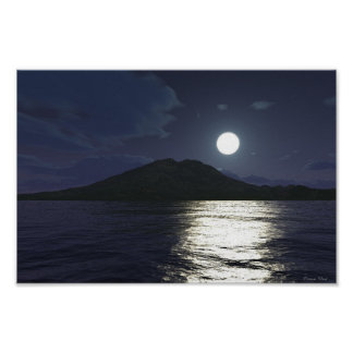 Claro de luna en el agua poster