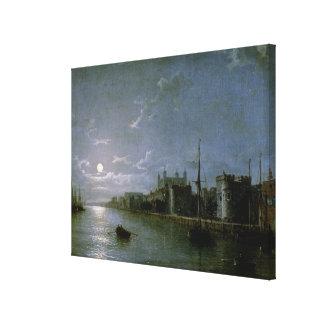 Claro de luna en el Thames Lona Estirada Galerías