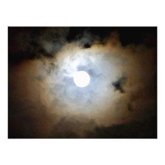 Claro de luna en Philly, las nubes de la Cojinete