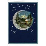 Claro de luna en Vermont Tarjeta De Felicitación
