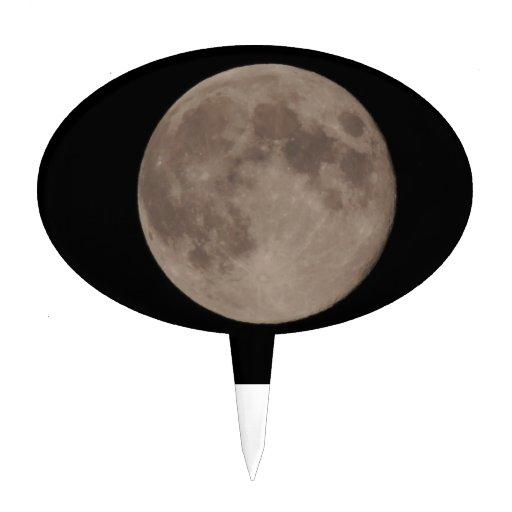 Claro de luna lunar por satélite de la luna figura para tarta