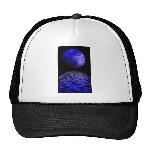 Claro de luna que brilla intensamente gorros bordados