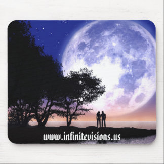 Claro de luna romántico tapete de ratones