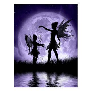 Claro de luna Sihouettes Tarjetas Postales