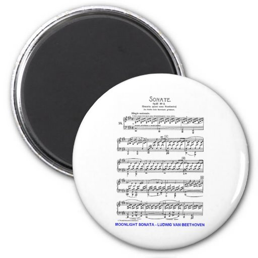 Claro de Luna-Sonata-Luis-Beethoven Imán Para Frigorifico
