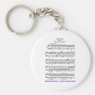 Claro de Luna-Sonata-Luis-Beethoven Llavero Personalizado