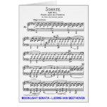 Claro de Luna-Sonata-Luis-Beethoven Tarjeta De Felicitación