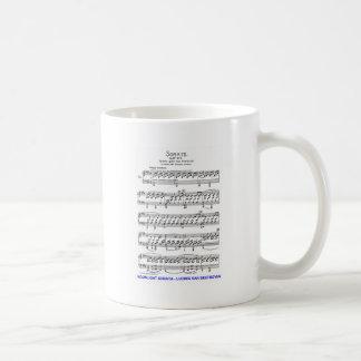 Claro de Luna-Sonata-Luis-Beethoven Taza Básica Blanca