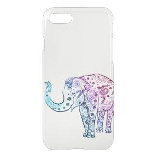 Claro de moda del ombre del dibujo del elefante funda para iPhone 7