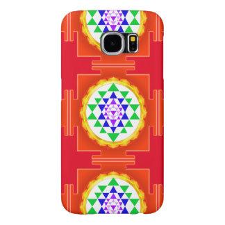 Claro de PixDezines Sri Yantra Chakra/tono naranja Fundas Samsung Galaxy S6