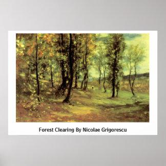 Claro del bosque de Nicolae Grigorescu Póster