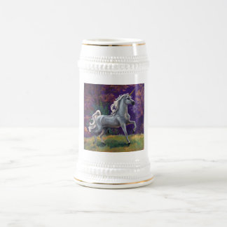 Claro del unicornio jarra de cerveza